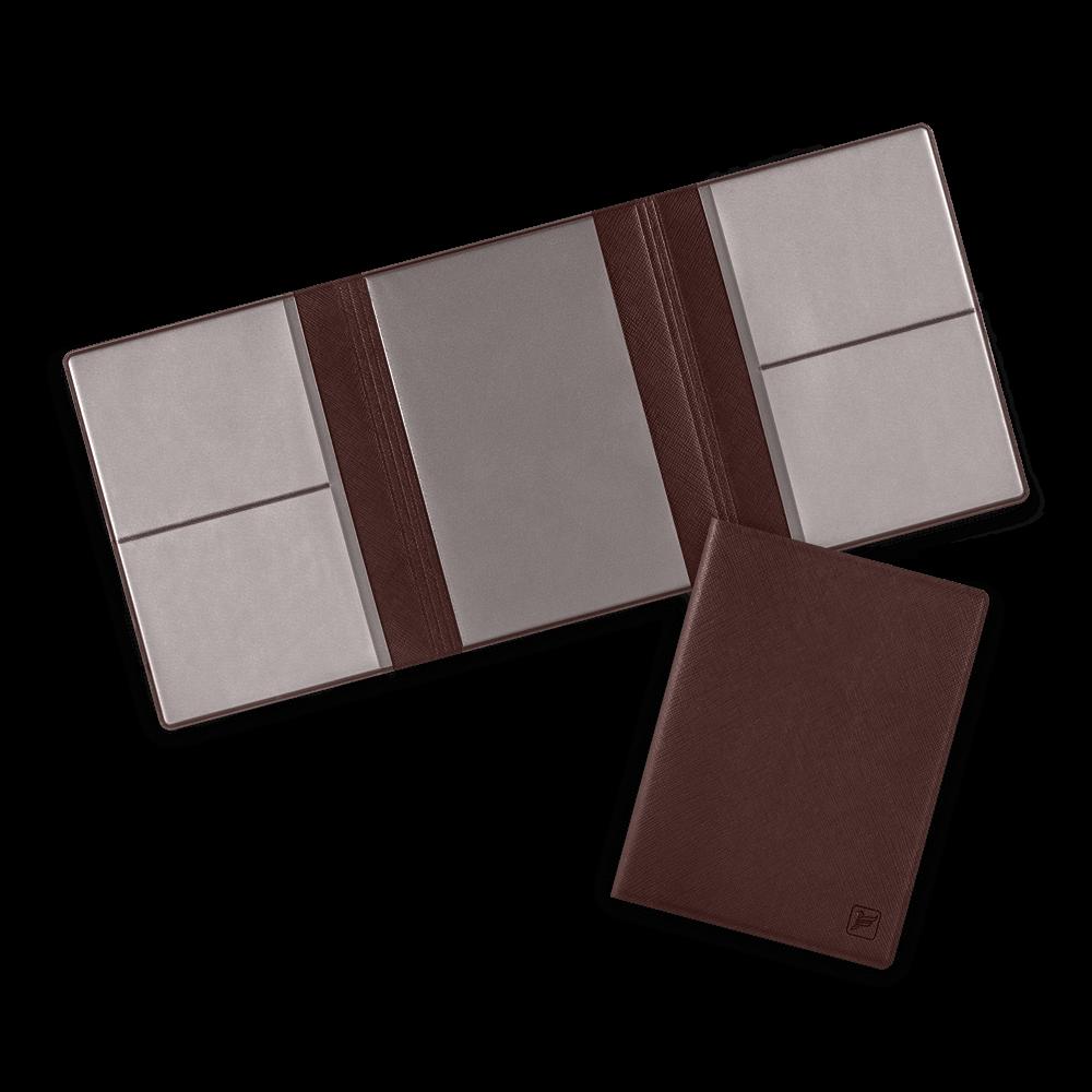 Автодокументница на магнитах, цвет коричневый