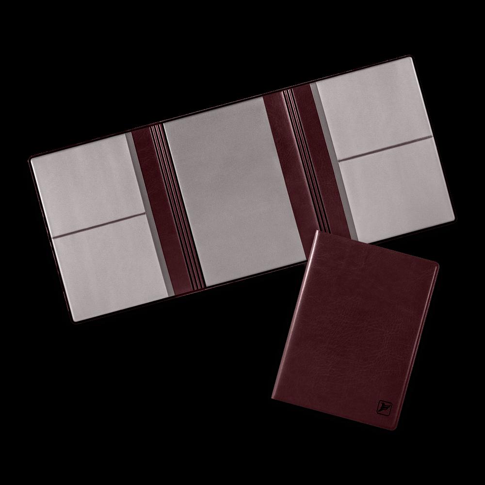 Автодокументница на магнитах, цвет коричневый classic