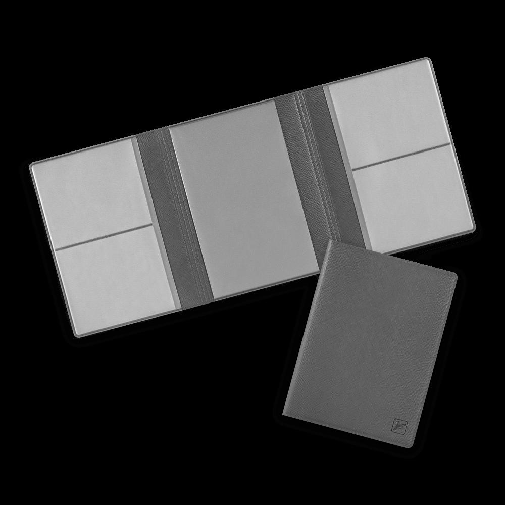 Автодокументница на магнитах, цвет серый