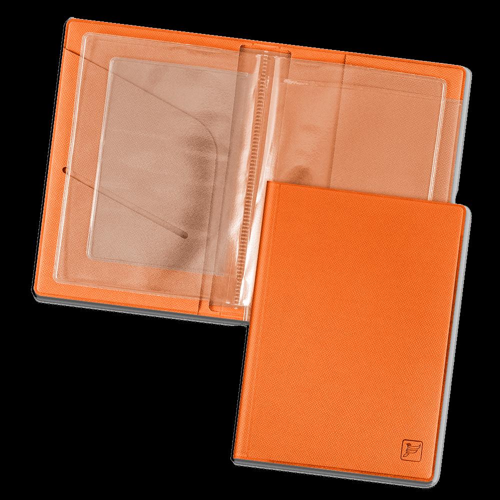 Обложка для автодокументов, цвет оранжевый