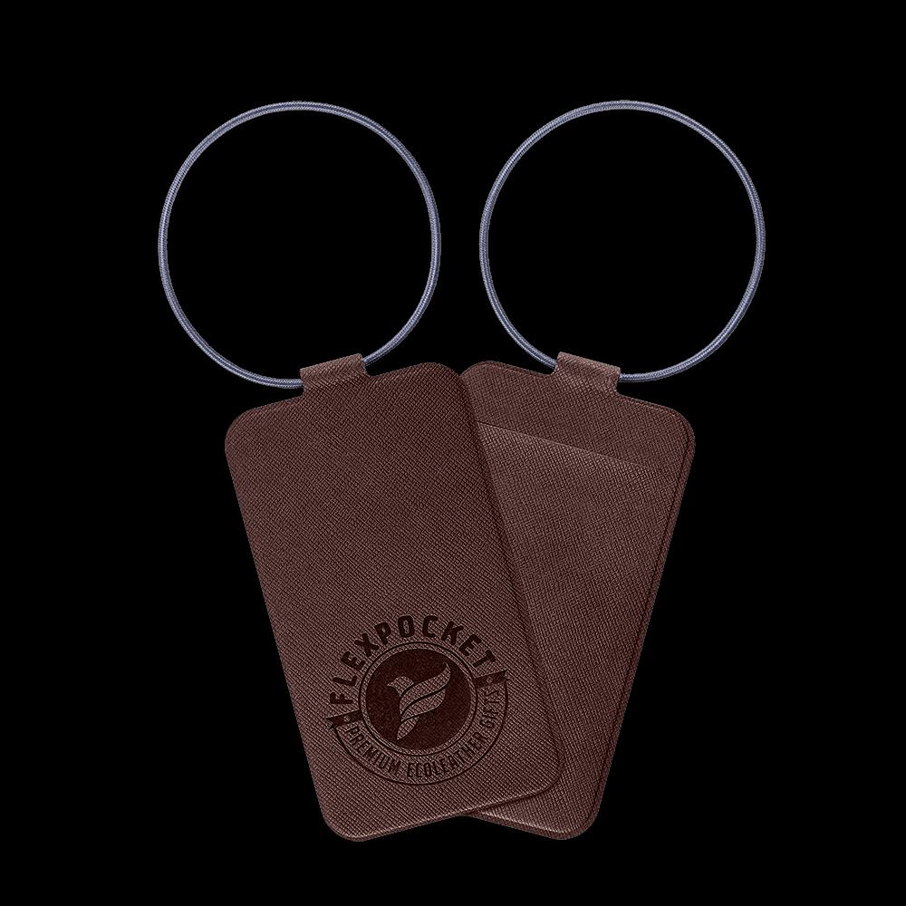 Багажная бирка на резинке, цвет коричневый