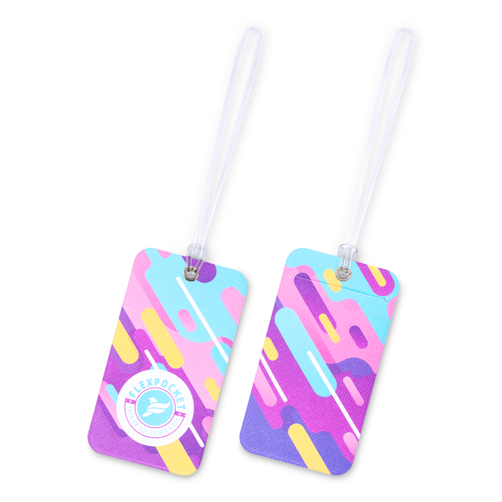 Багажная бирка на виниловой петле, полноцветная печать