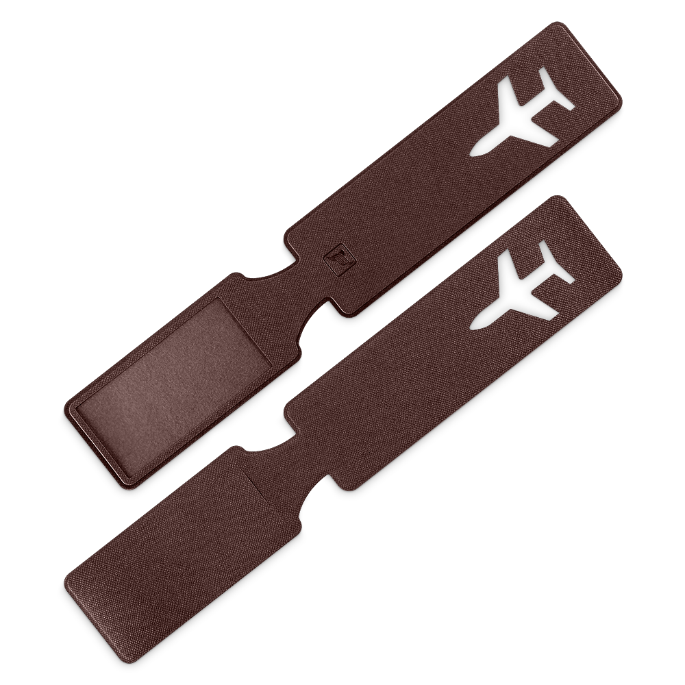 Багажная бирка, цвет коричневый