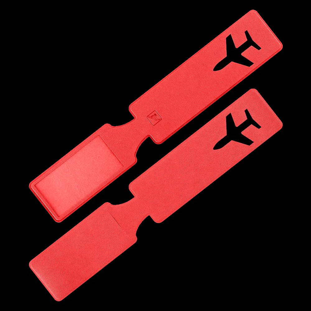 Багажная бирка, цвет красный