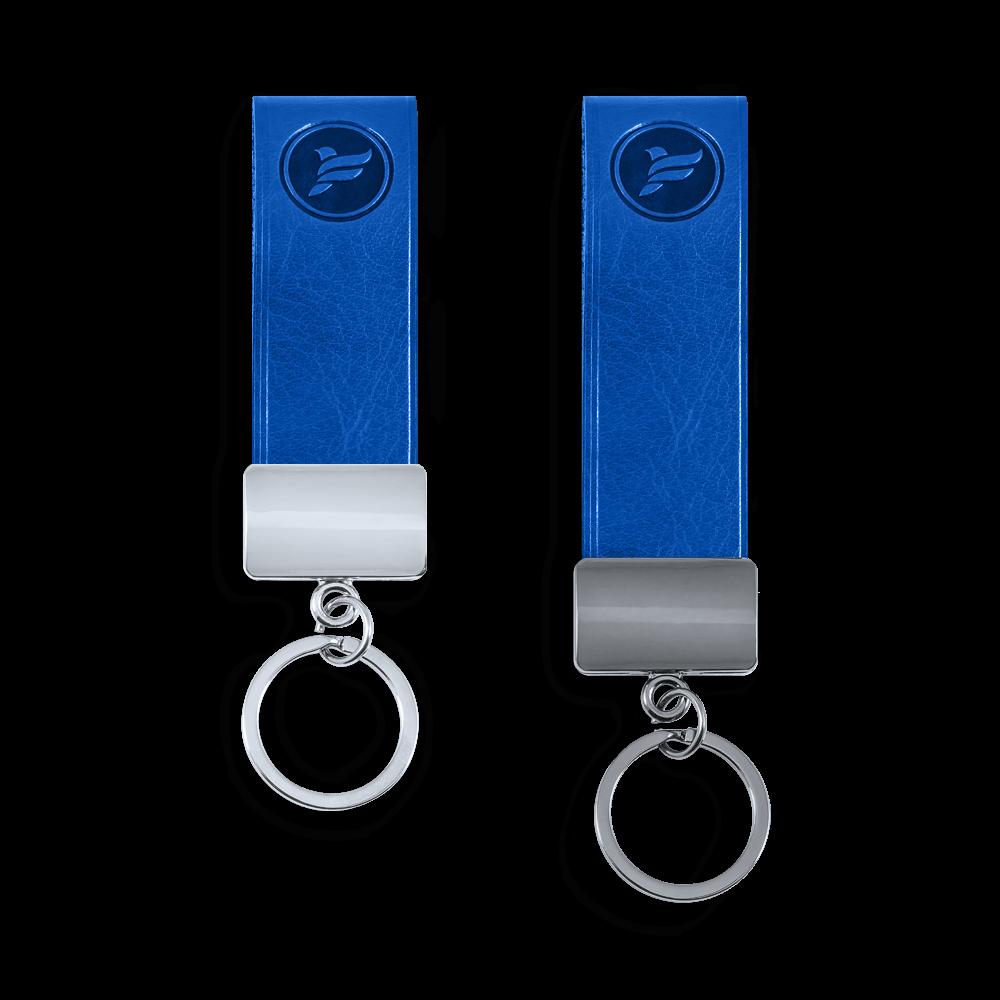 Брелок из экокожи, цвет синий Сlassic