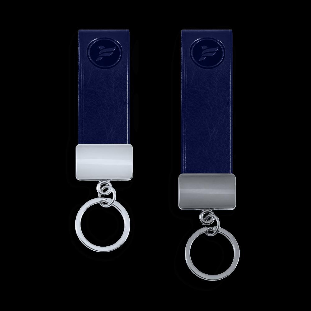 Брелок из экокожи, цвет темно-синий Сlassic