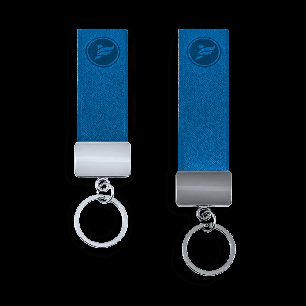 Брелок из экокожи, цвет синий