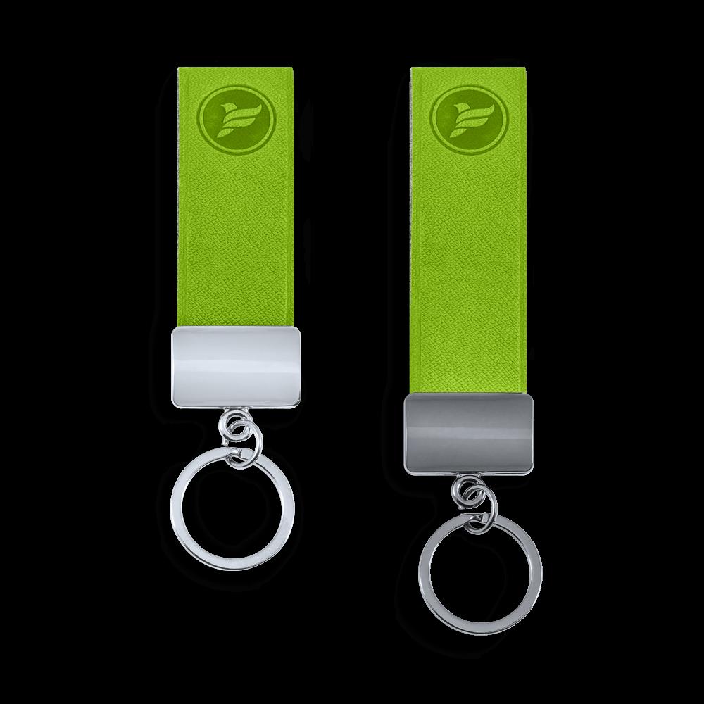 Брелок из экокожи, цвет зеленый