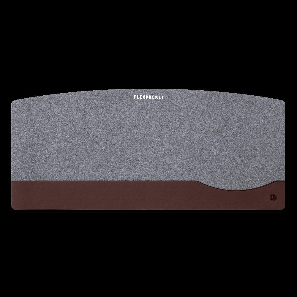 Настольный мат из фетра — большой, цвет коричневый