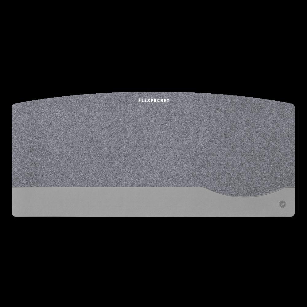 Настольный мат из фетра — большой, цвет светло-серый
