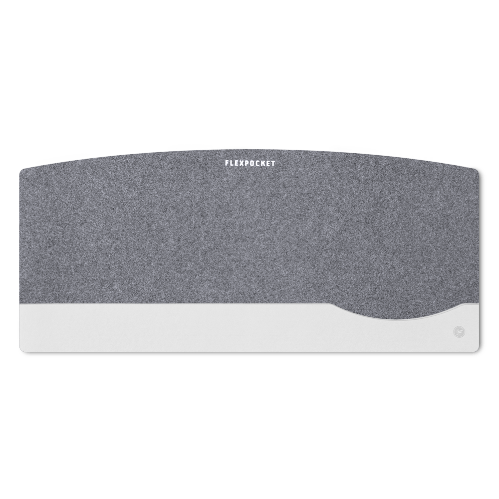 Настольный мат из фетра — большой, цвет белый