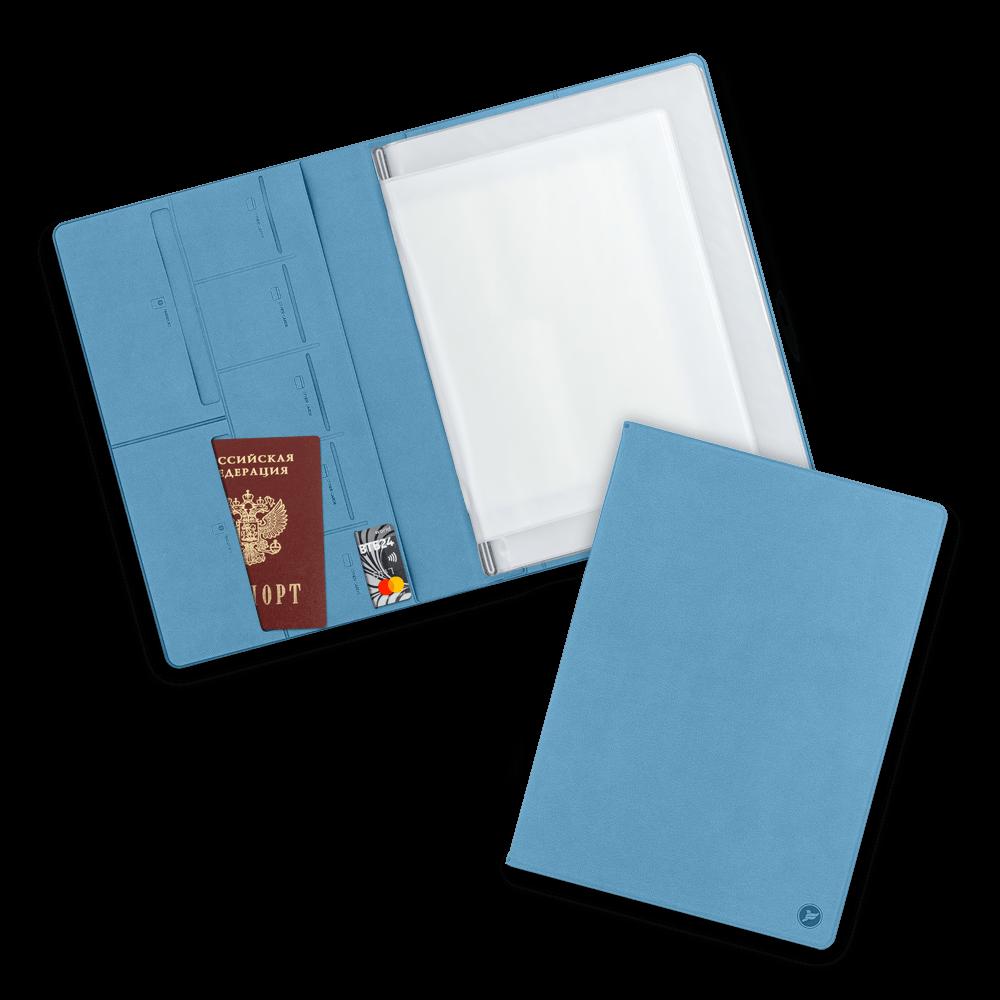 Органайзер для документов A4, цвет голубой