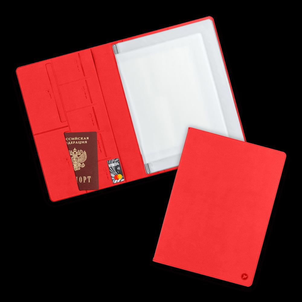 Органайзер для документов A4, цвет красный