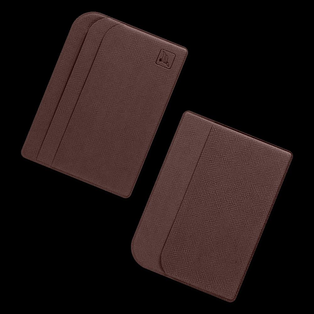 Футляр для пластиковых карт, цвет коричневый