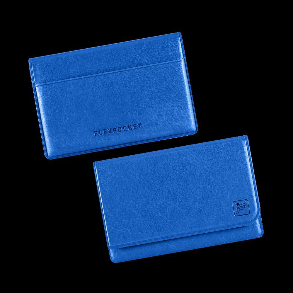 Жесткий футляр для трех пластиковых карт, цвет синий classic