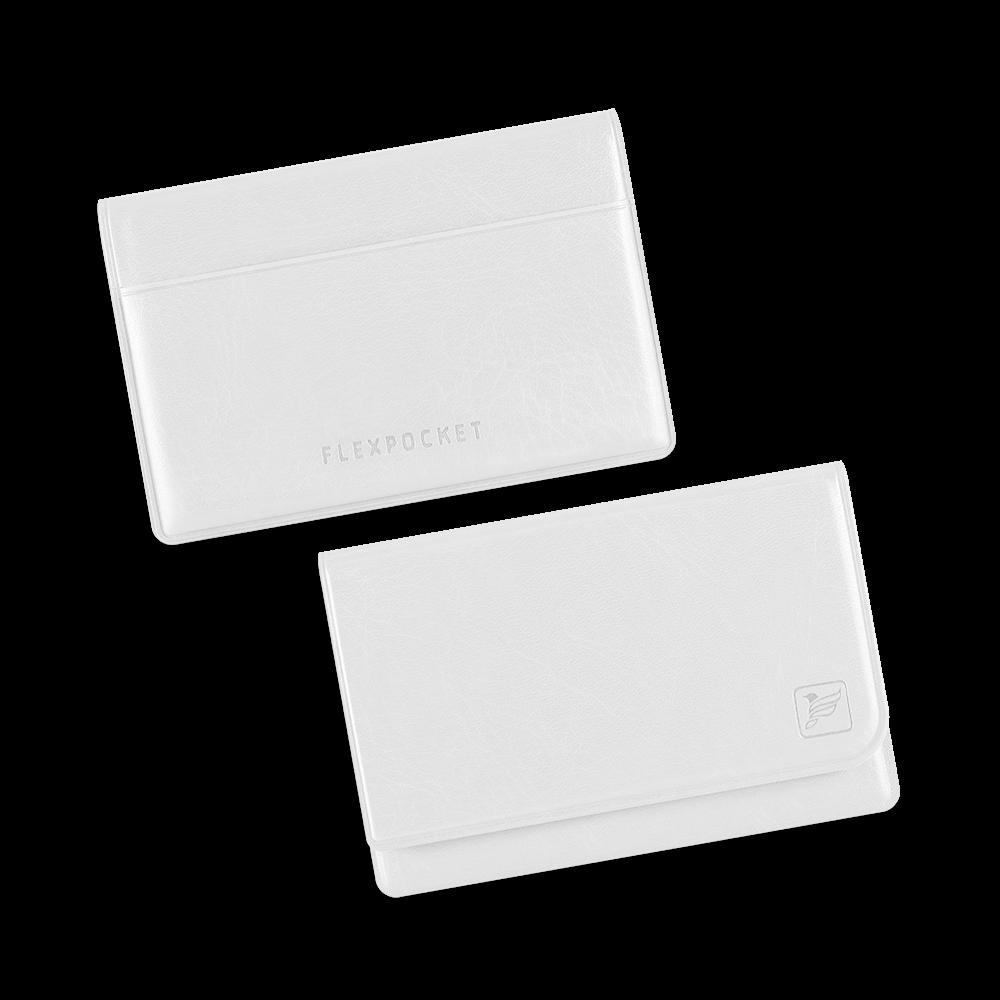 Жесткий футляр для трех пластиковых карт, цвет белый classic