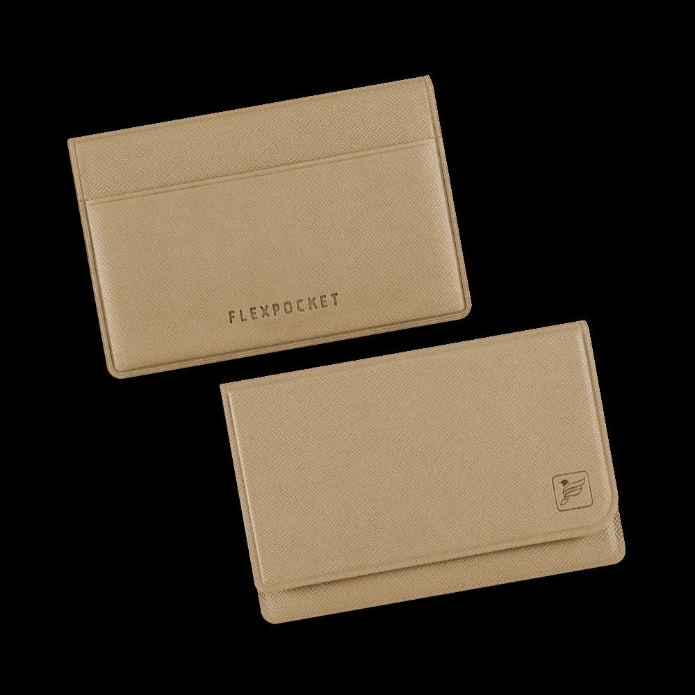 Жесткий футляр для трех пластиковых карт, цвет бежевый