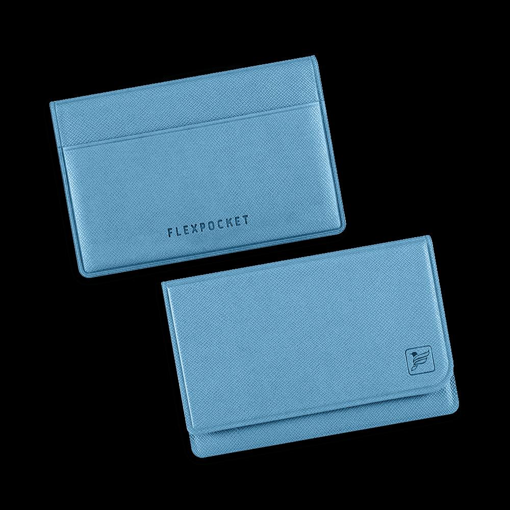 Жесткий футляр для трех пластиковых карт, цвет голубой