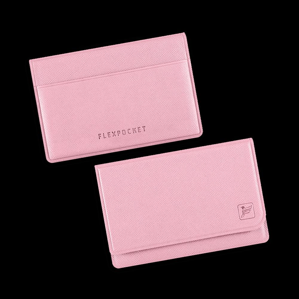 Жесткий футляр для трех пластиковых карт, цвет розовый