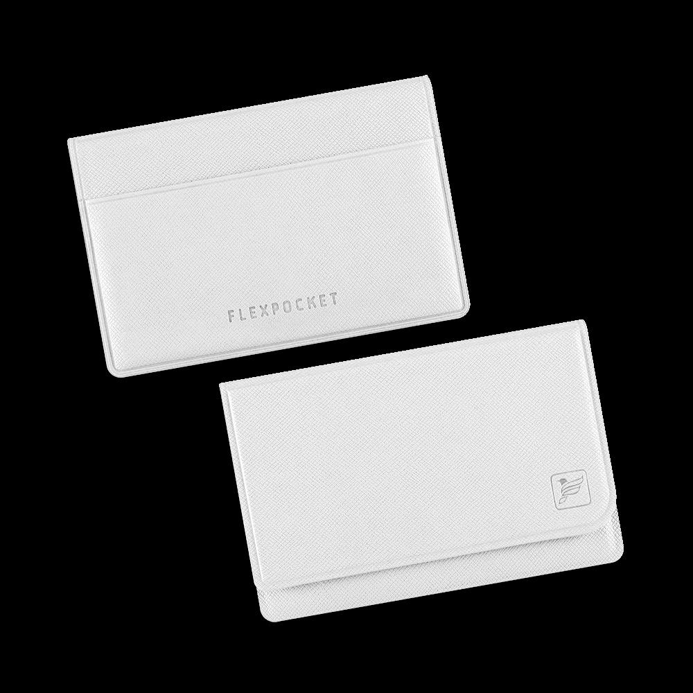 Жесткий футляр для трех пластиковых карт, цвет белый
