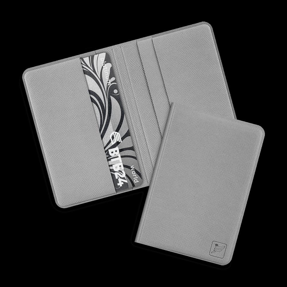 Жесткий футляр для пластиковых карт, цвет светло-серый