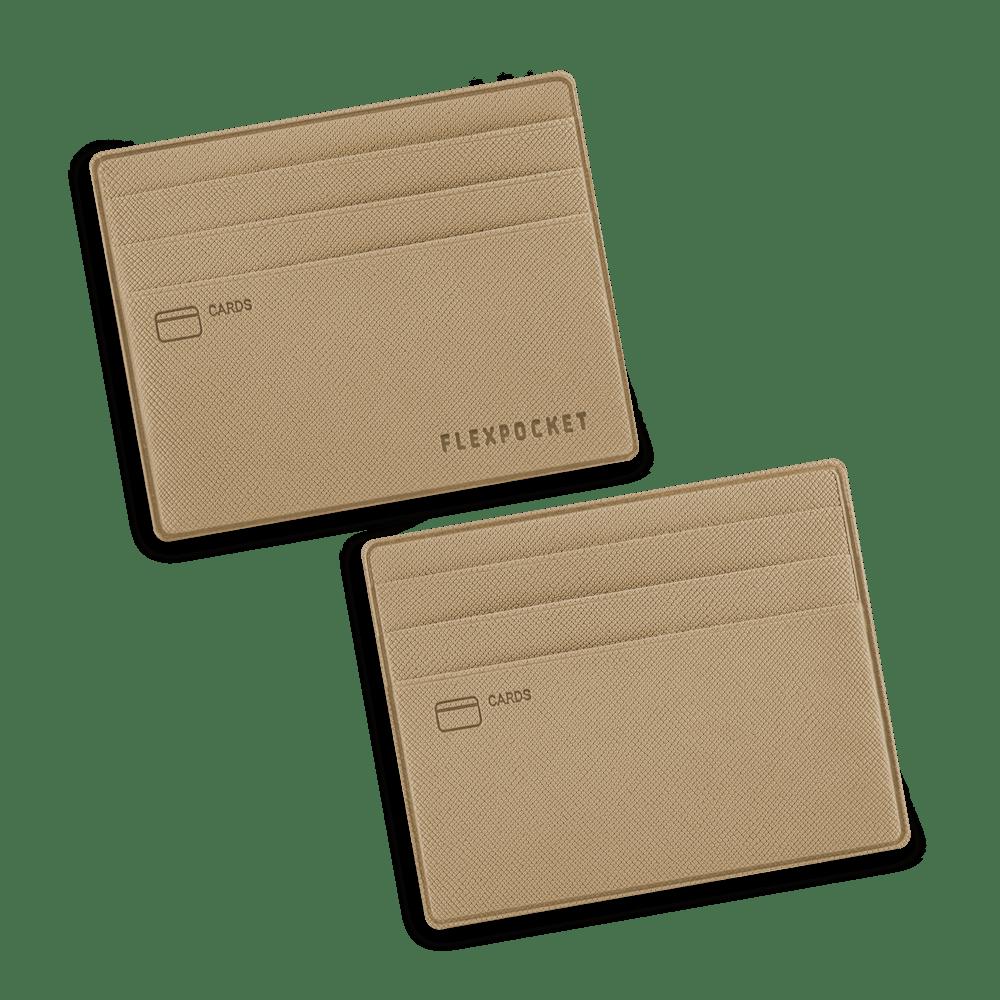 Картхолдер для денег и шести пластиковых карт, цвет бежевый