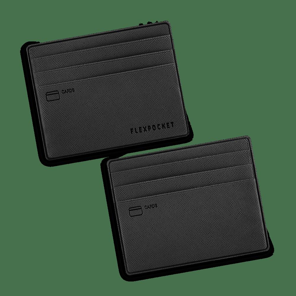 Картхолдер для денег и шести пластиковых карт, цвет черный