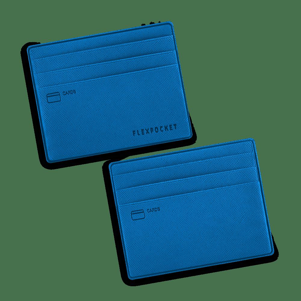 Картхолдер для денег и шести пластиковых карт, цвет синий