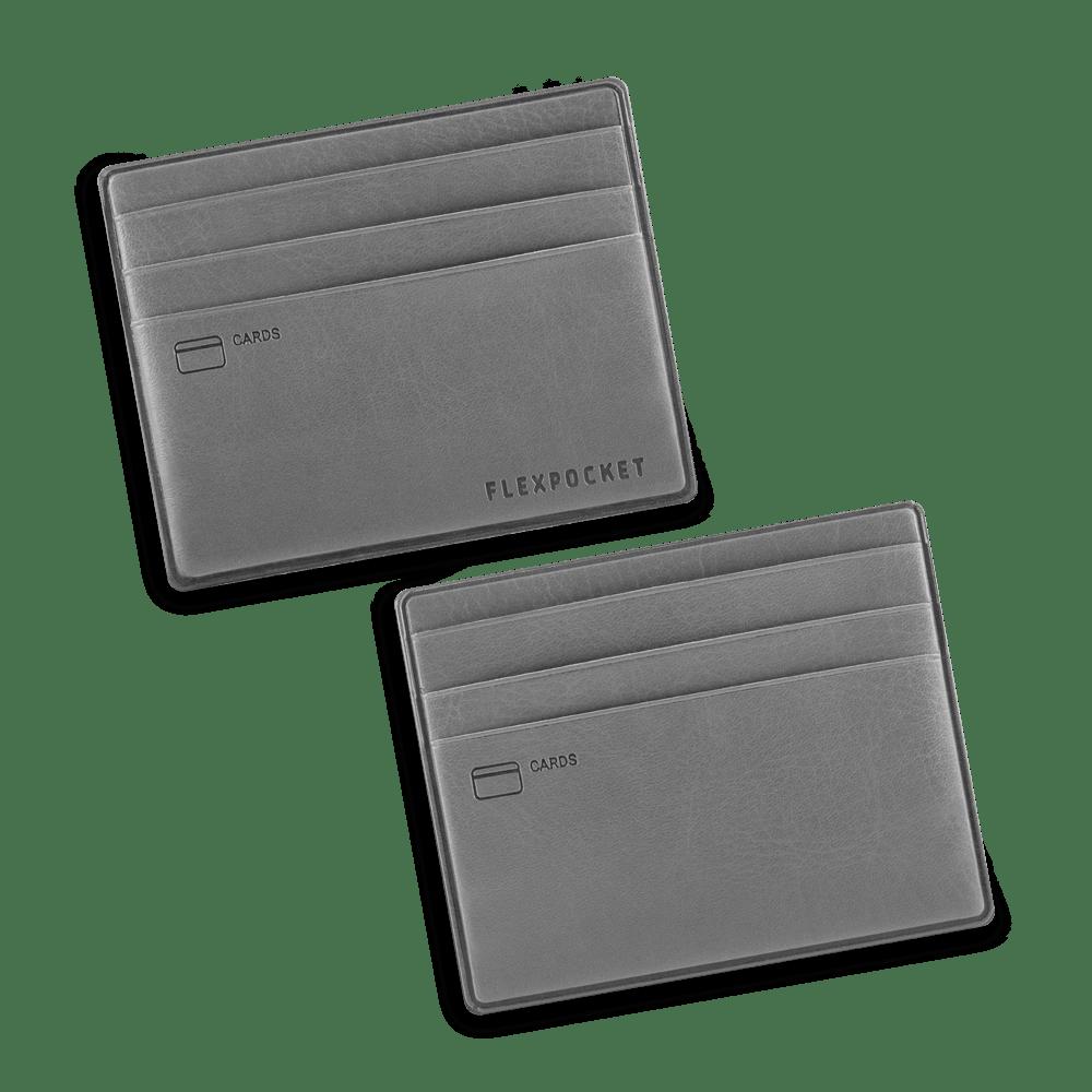 Картхолдер для денег и шести пластиковых карт, цвет серый classic
