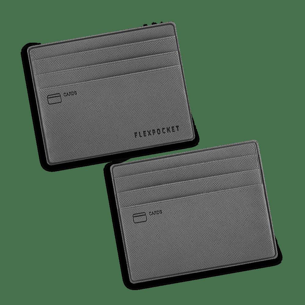 Картхолдер для денег и шести пластиковых карт, цвет серый