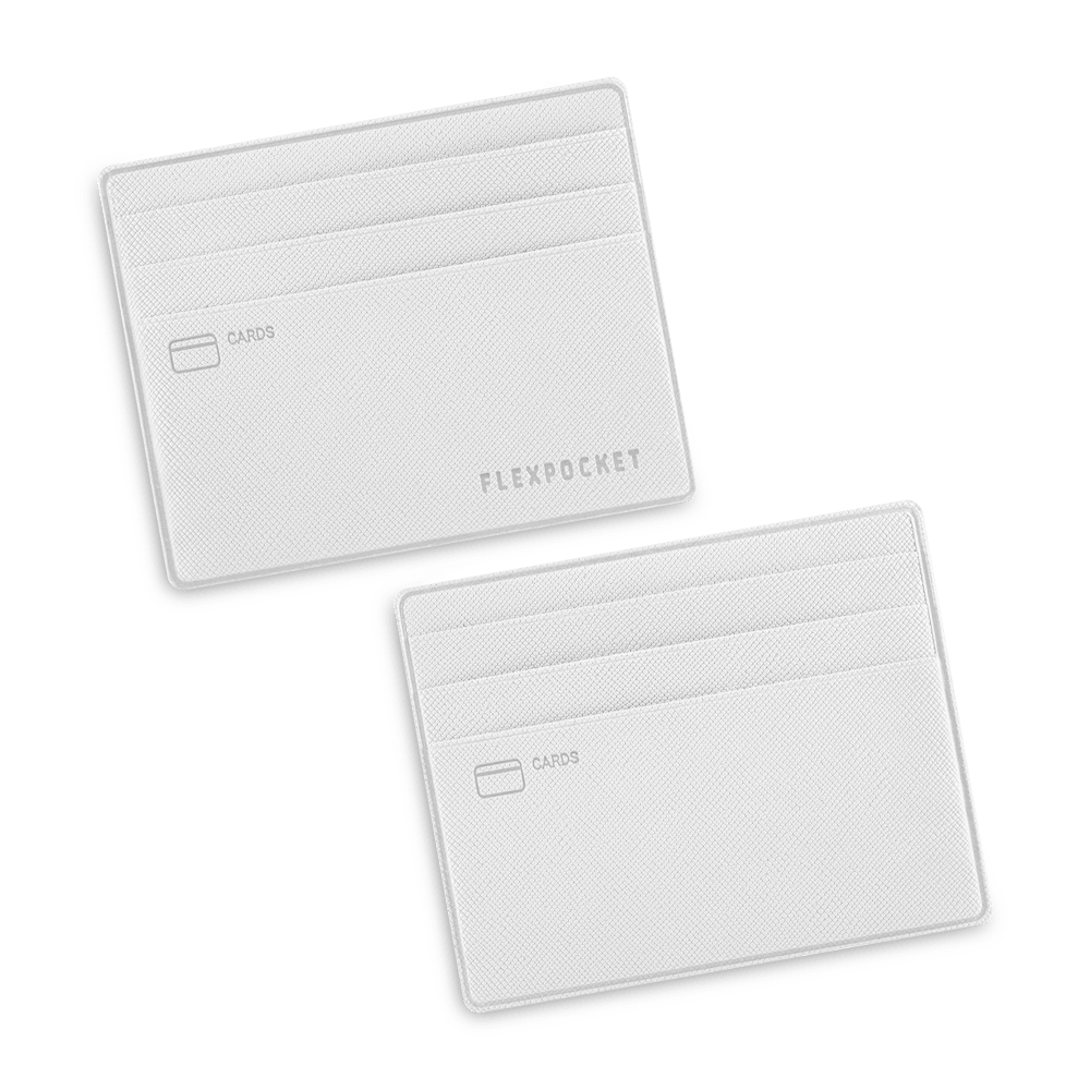 Картхолдер для денег и шести пластиковых карт, цвет белый