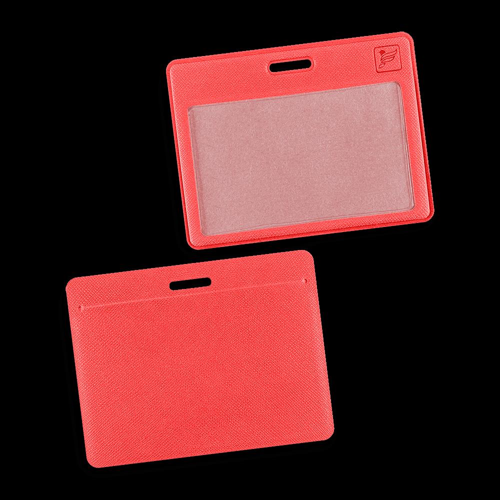 Карман горизонтальный, цвет красный