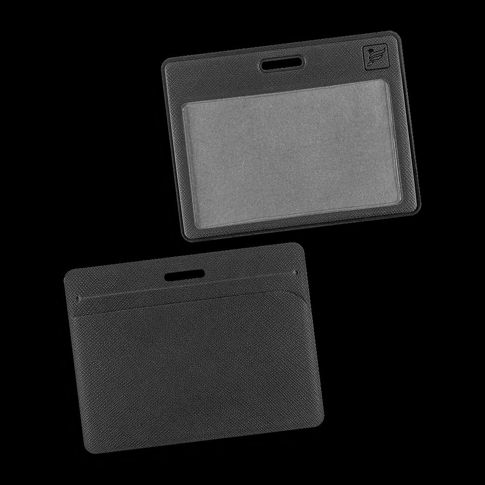 Карман горизонтальный с дополнительным отделением, цвет черный