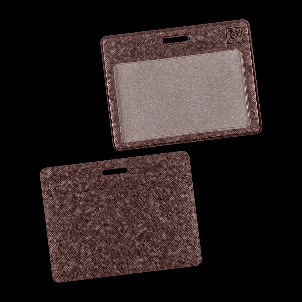 Карман горизонтальный с дополнительным отделением, цвет коричневый