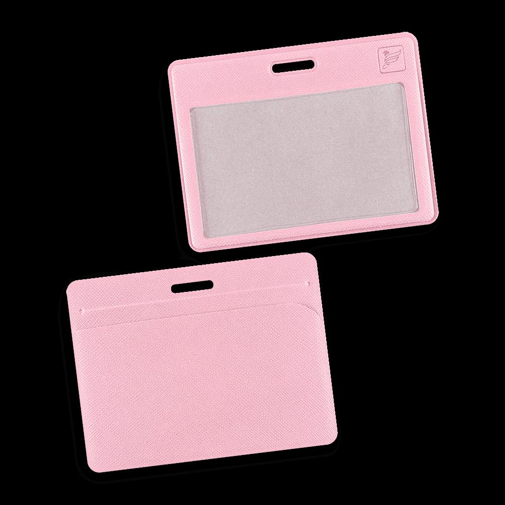 Карман горизонтальный с дополнительным отделением, цвет розовый