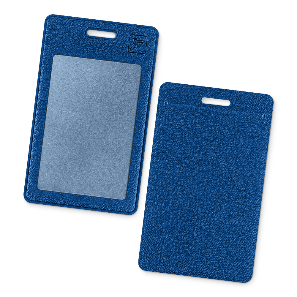 Карман вертикальный, цвет синий