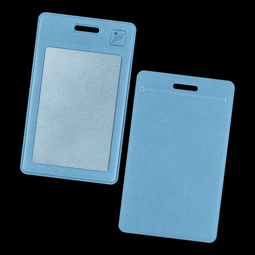 Карман вертикальный, цвет голубой
