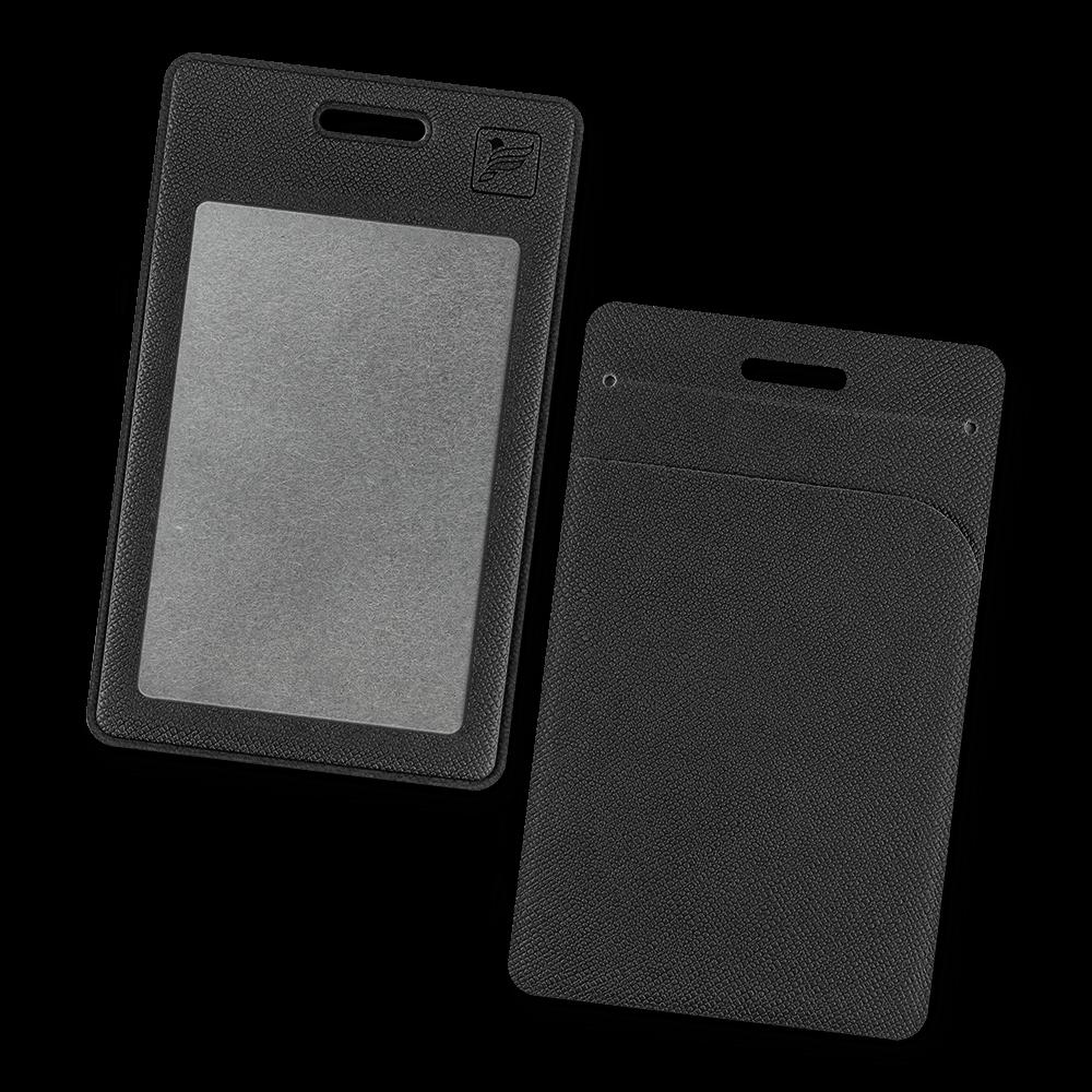 Карман вертикальный с дополнительным отделением, цвет черный