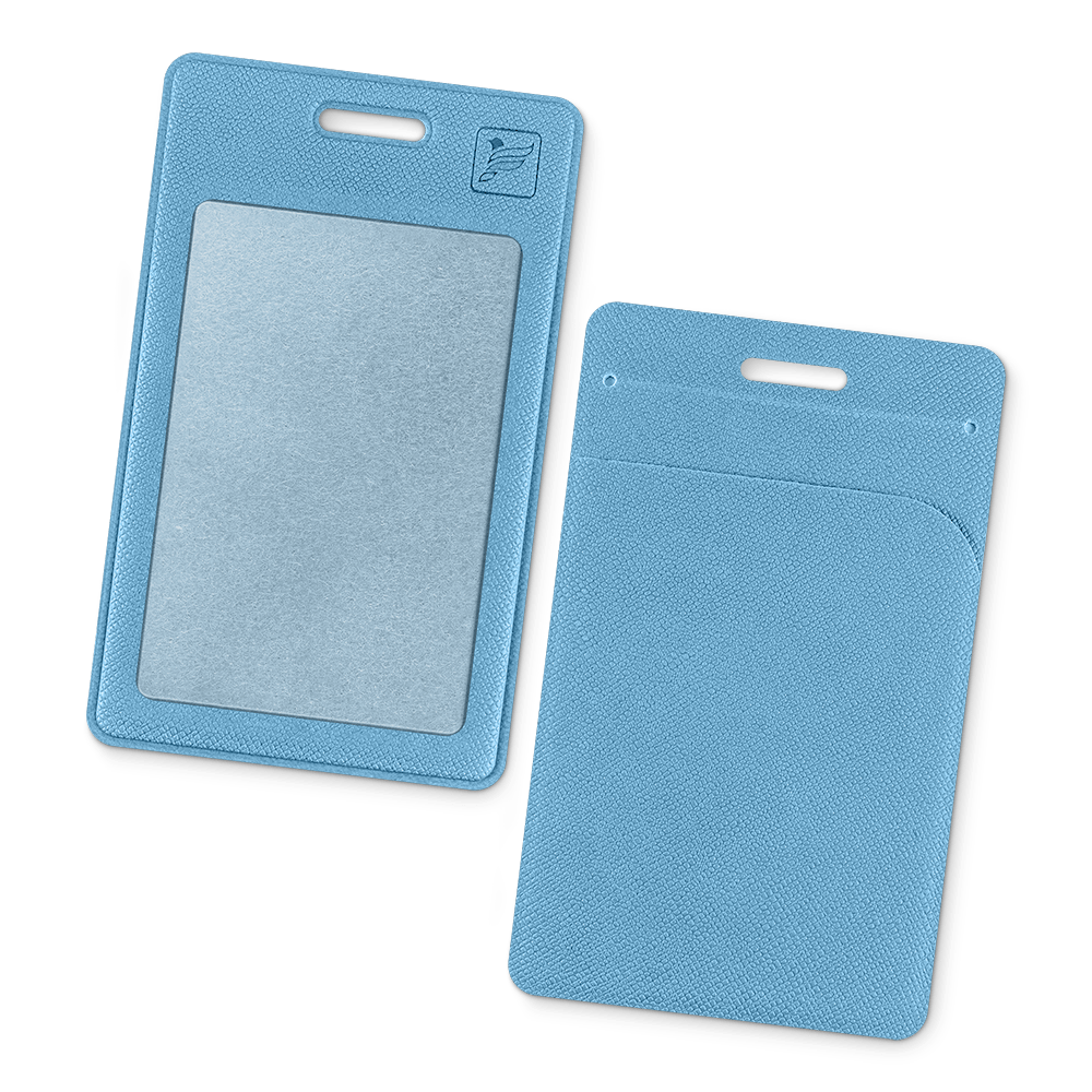 Карман вертикальный с дополнительным отделением, цвет голубой