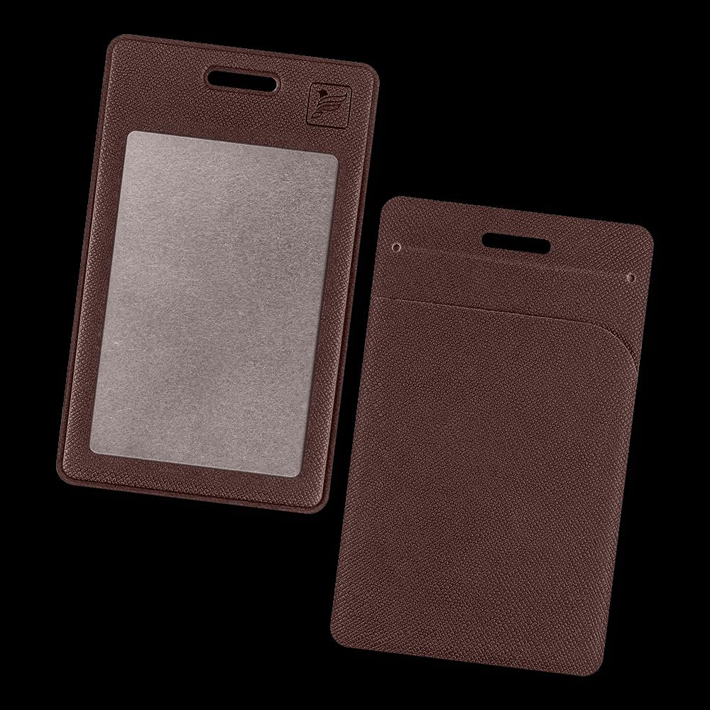 Карман вертикальный с дополнительным отделением, цвет коричневый