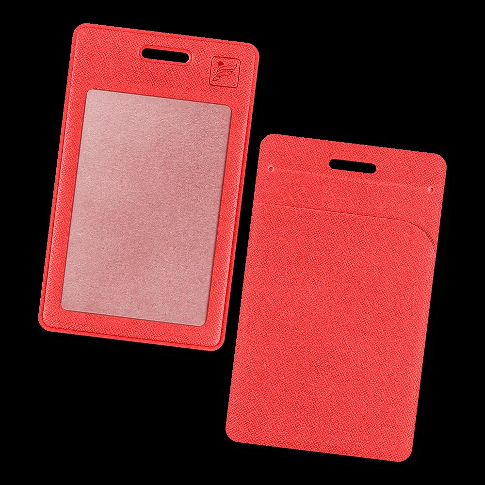 Карман вертикальный с дополнительным отделением, цвет красный