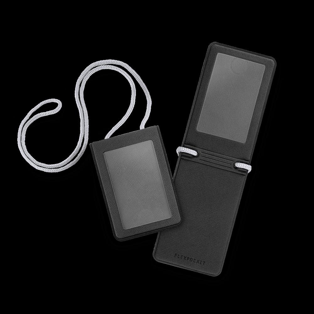 Карман с магнитным замком - вертикальный, цвет черный