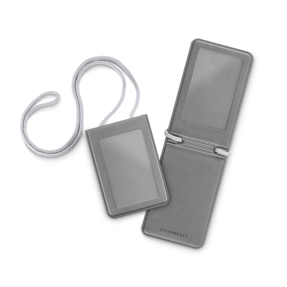 Карман с магнитным замком - вертикальный, цвет серый classic