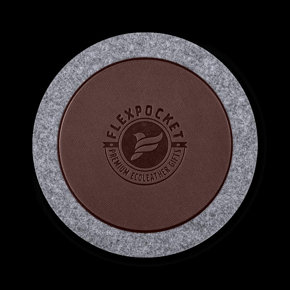 Костер из фетра, цвет коричневый