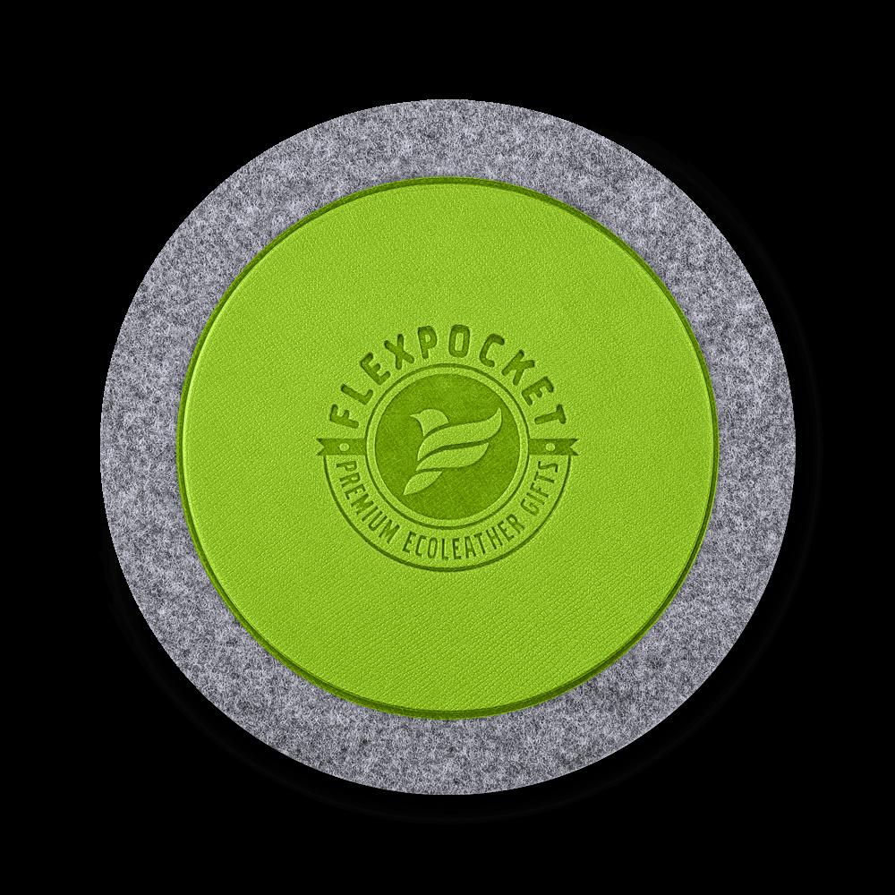 Костер из фетра, цвет зеленый