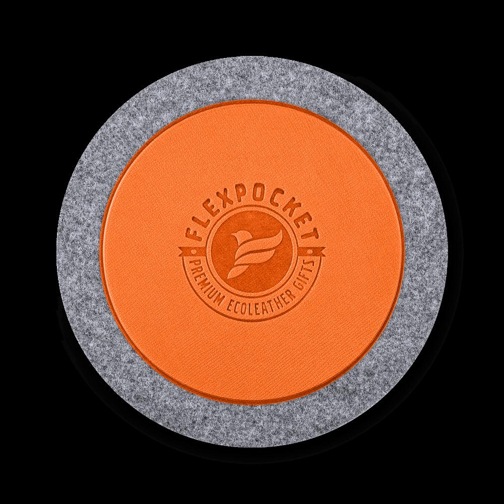 Костер из фетра, цвет оранжевый