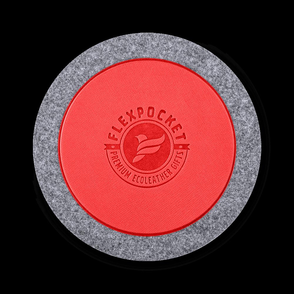 Костер из фетра, цвет красный
