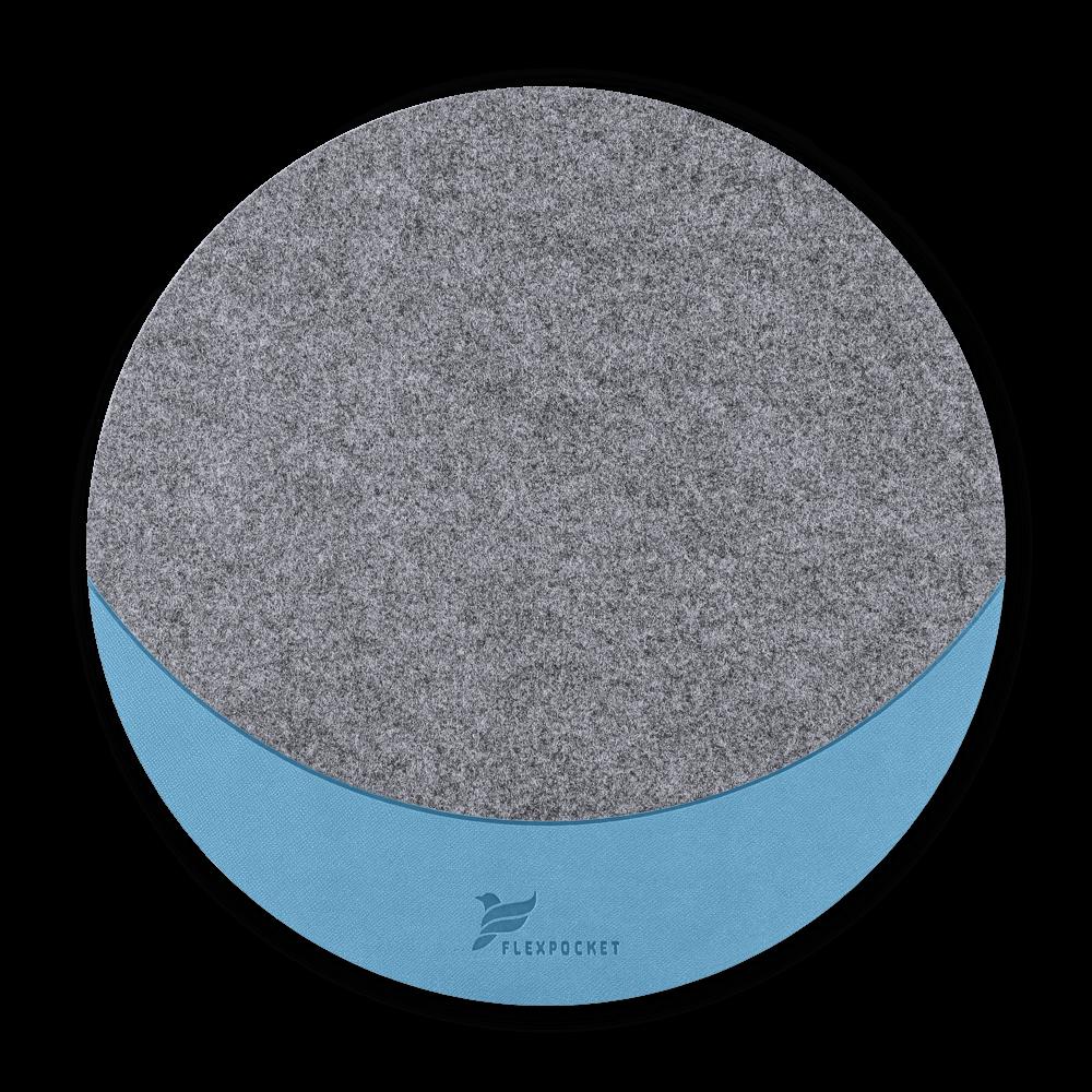 Коврик для мыши из фетра, цвет голубой