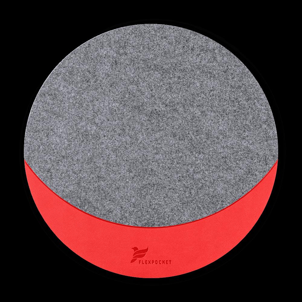 Коврик для мыши из фетра, цвет красный