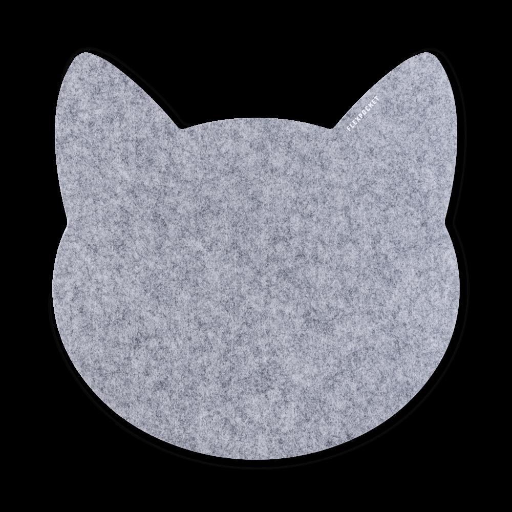 Коврик для мыши из фетра «Котик», цвет светло-серый
